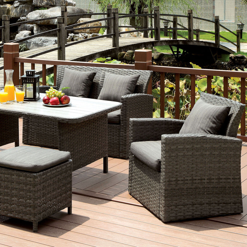 Furniture of America NASHIRA 6 PC. PATIO DINING SET
