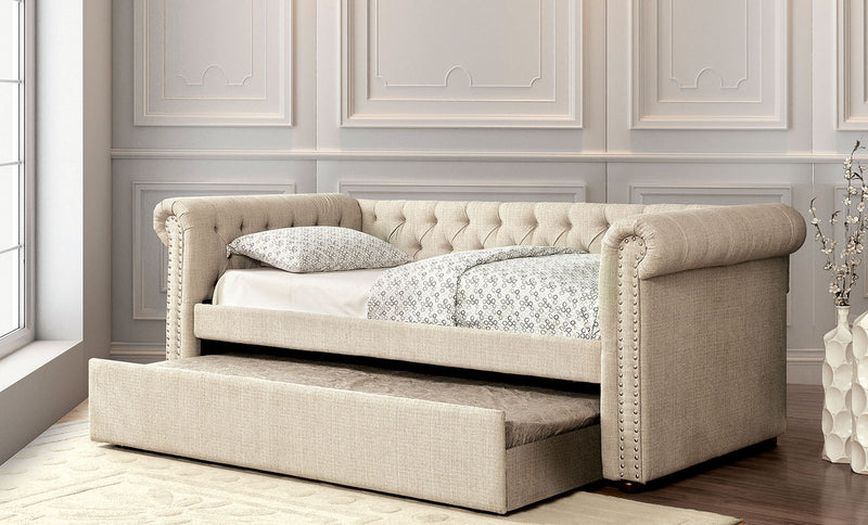 Furniture of America LEANNA DAYBED W/ TRUNDLE