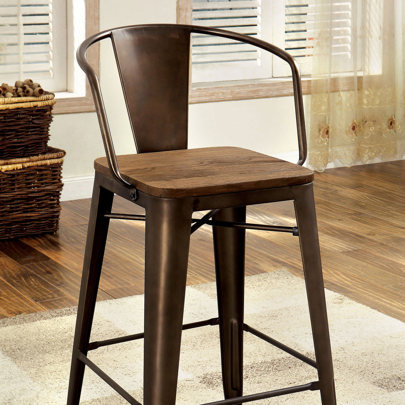 Furniture of America COOPER II COUNTER HT. CHAIR (4/BOX)