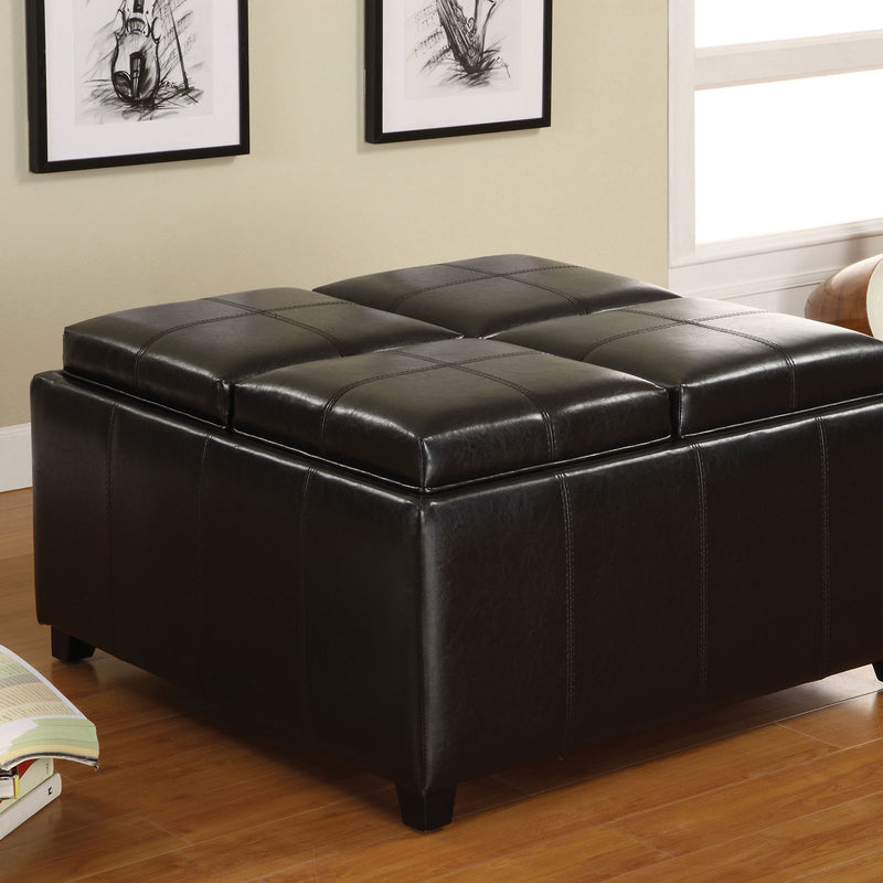 Furniture of America ELVINA STORAGE OTTOMAN