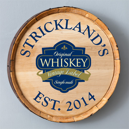 Whiskey Barrel Sign - Single Malt