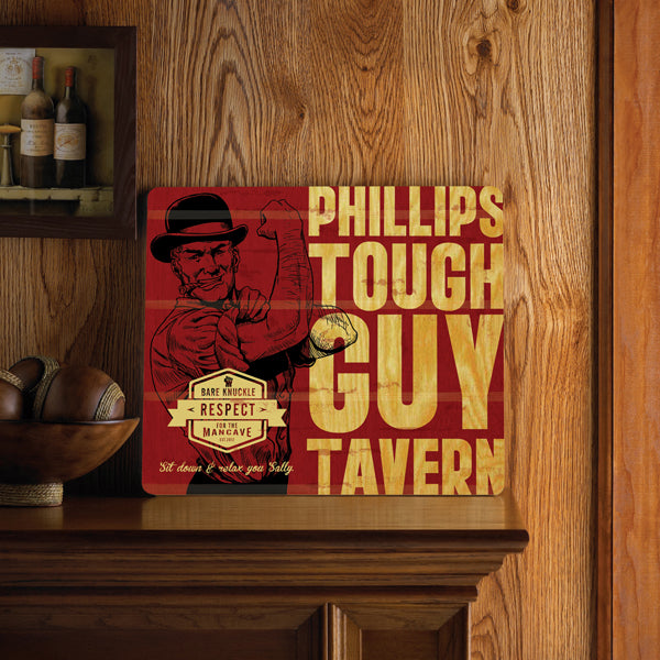 Wood Tavern and Bar Sign - Tough Guy