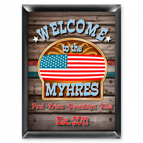 Vintage Series Personalized Sign - Welcome