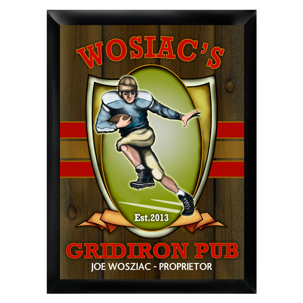 Personalized Traditional Pub Sign - Gridiron