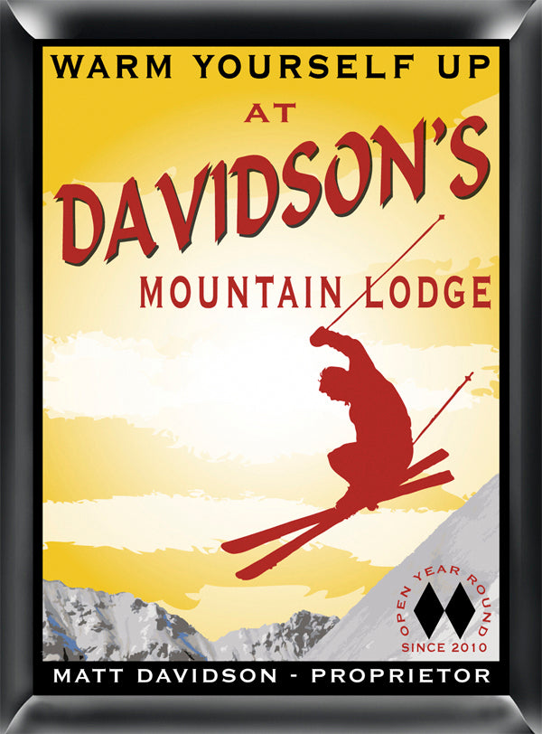 Personalized Traditional Pub Sign - Ski Lodge