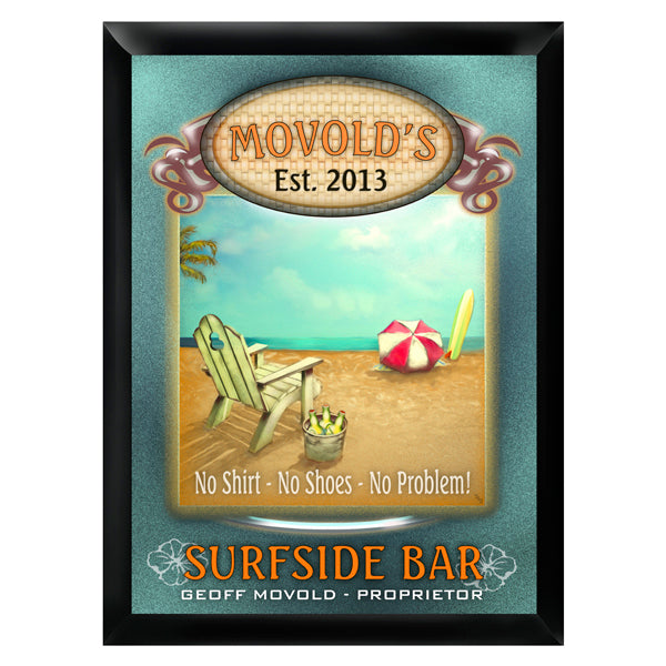 Personalized Traditional Pub Sign - Surfside