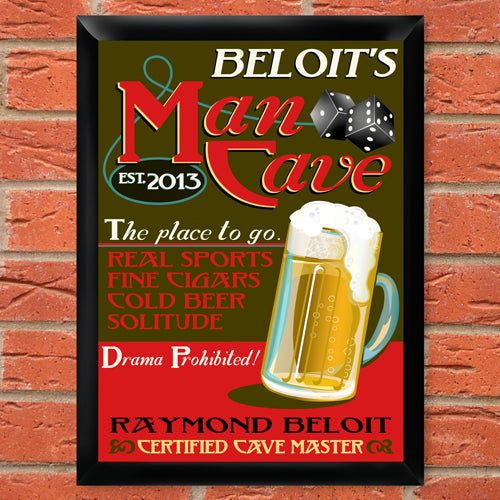 Personalized Traditional Pub Sign - Baron
