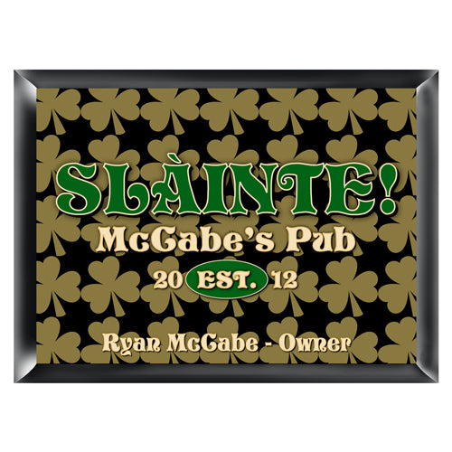 Personalized Traditional Pub Sign - Field of Clover