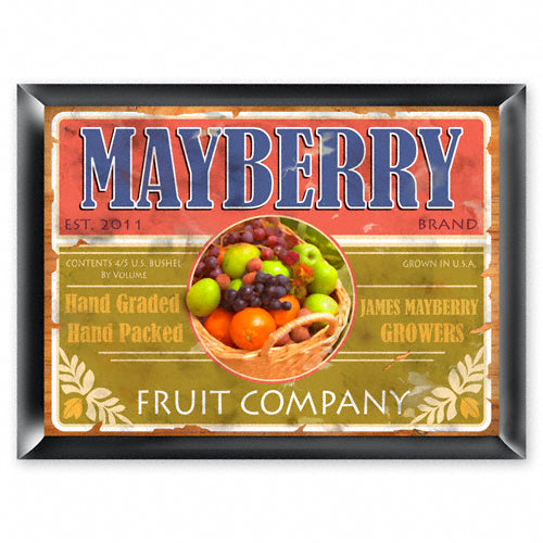 Personalized Traditional Pub Sign - Fruit Company