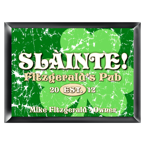 Personalized Traditional Pub Sign - Jolly Clover