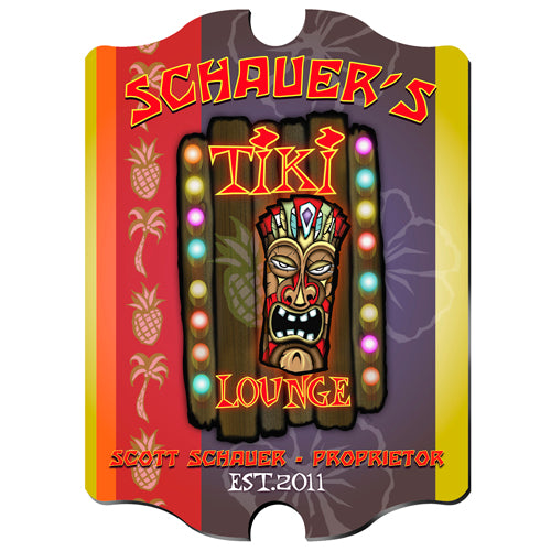 Vintage Series Personalized Sign - Tiki Lounge
