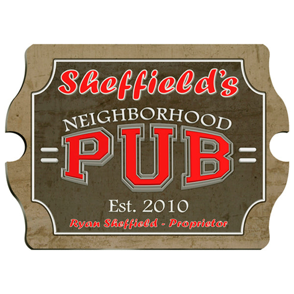Vintage Series Personalized Sign - Neighbor