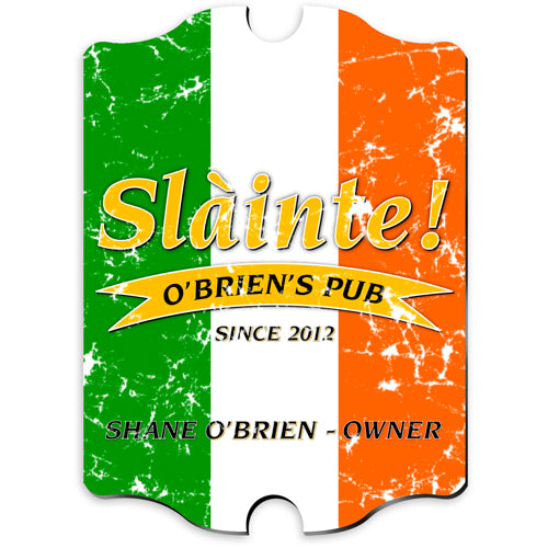 Vintage Series Personalized Sign - Pride Irish