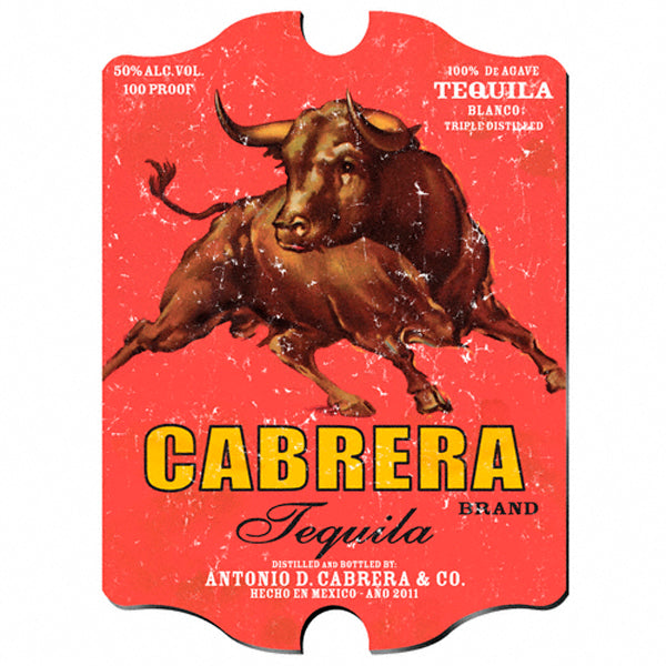 Vintage Series Personalized Sign - Cabrera Tequila