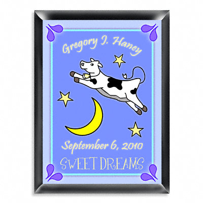 Personalized Room Signs - Cow Jumping Over the Moon Boy