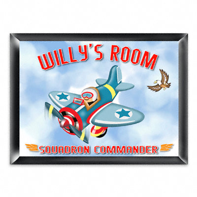 Personalized Room Sign - Fly Boy