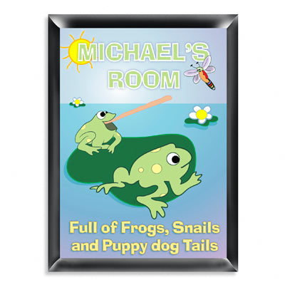 Personalized Room Sign - Froggin