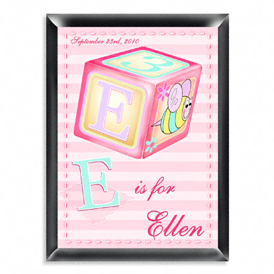 Personalized Room Signs - Girly Bee Block