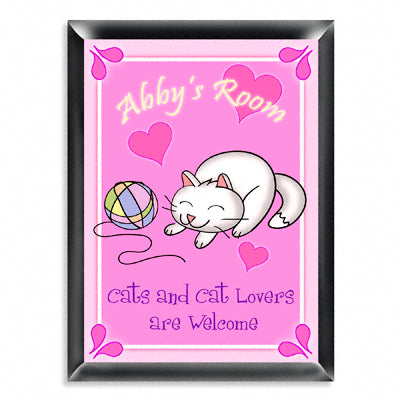 Personalized Room Sign - Kitten
