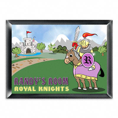 Personalized Room Sign - Knight