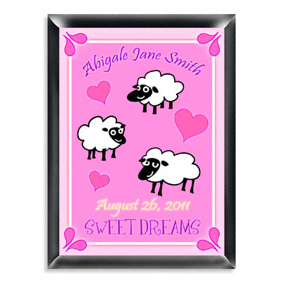 Personalized Room Sign - Sheep Girl