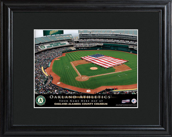 Personalized MLB Stadium Print - Athletics