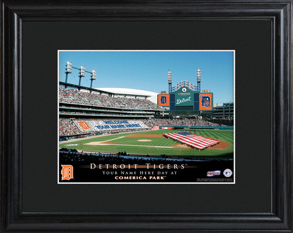 Personalized MLB Stadium Print - Tigers