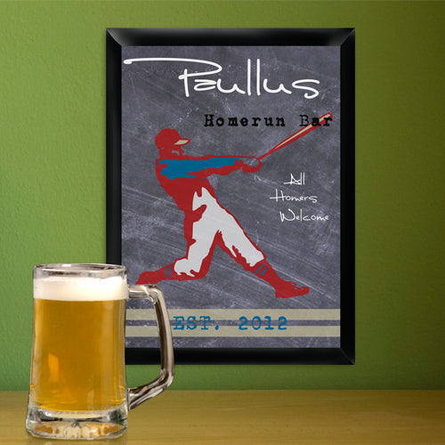 Traditional Sports Man Cave Pub and Tavern Signs - Tavern Homerun