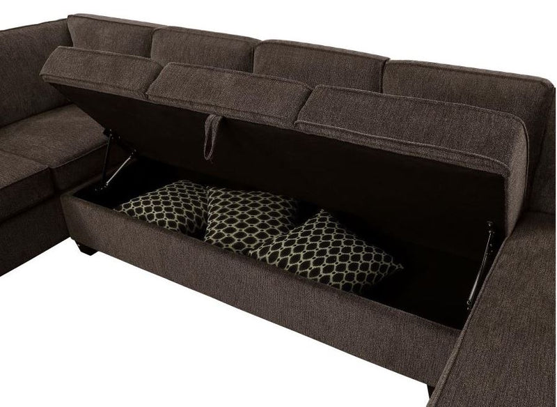 Provence Sectional with Chaise and Built-in Storage Sectional Sofa By Coaster