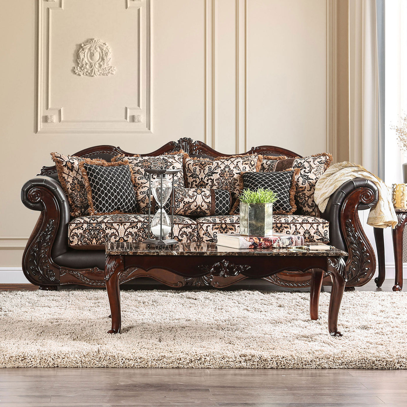Wondrous Furniture Of America Jamael Sofa Gmtry Best Dining Table And Chair Ideas Images Gmtryco