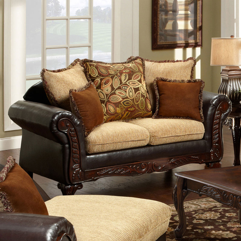 Furniture of America DONCASTER LOVE SEAT