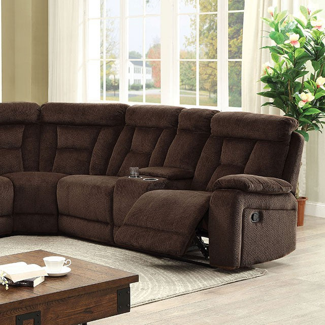 Furniture of America Maybell Brown Sectional