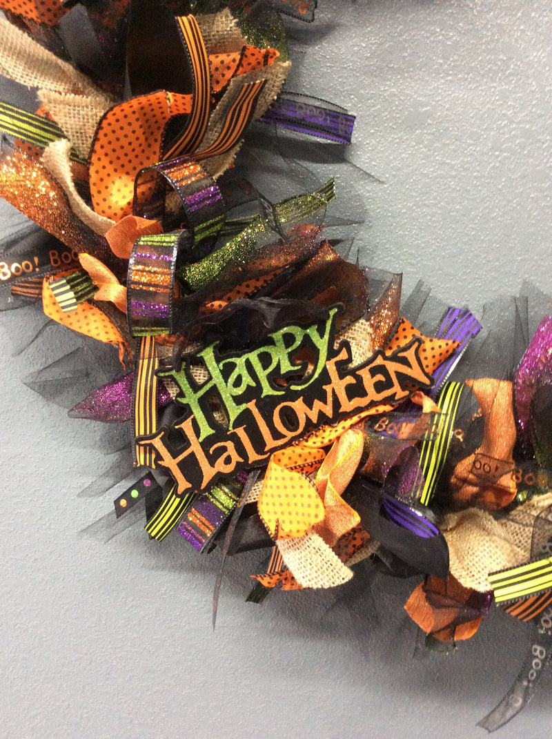 "20"" Custom Halloween Wreath"