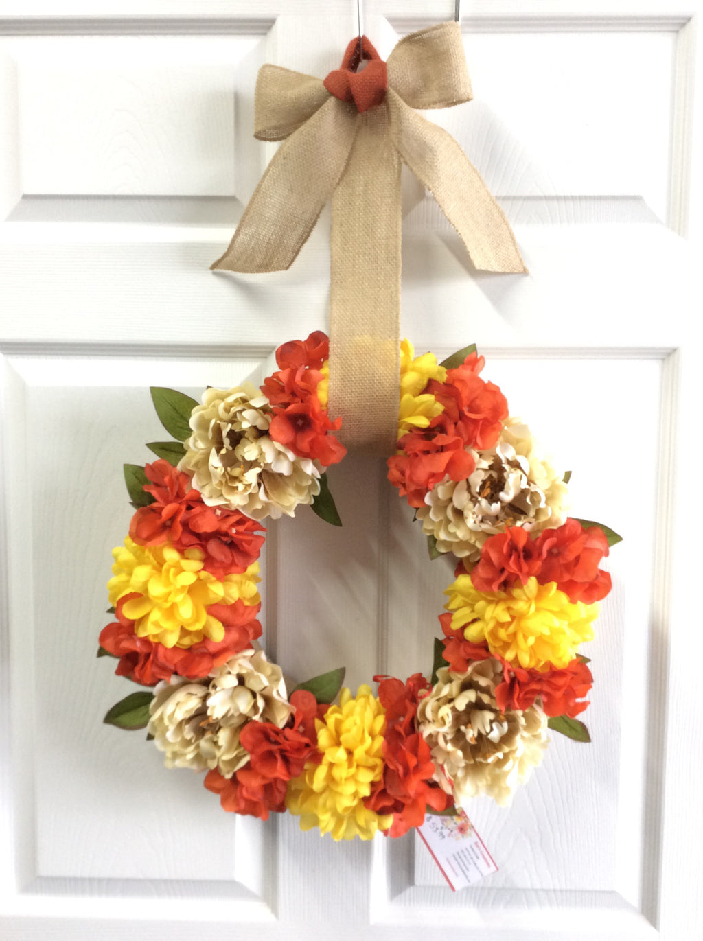 "16"" Fall Floral Wreath"
