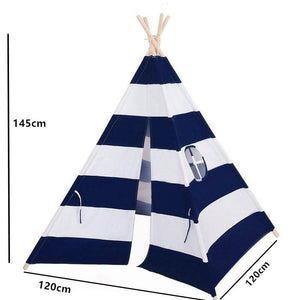 Tepee - Blue and white striped