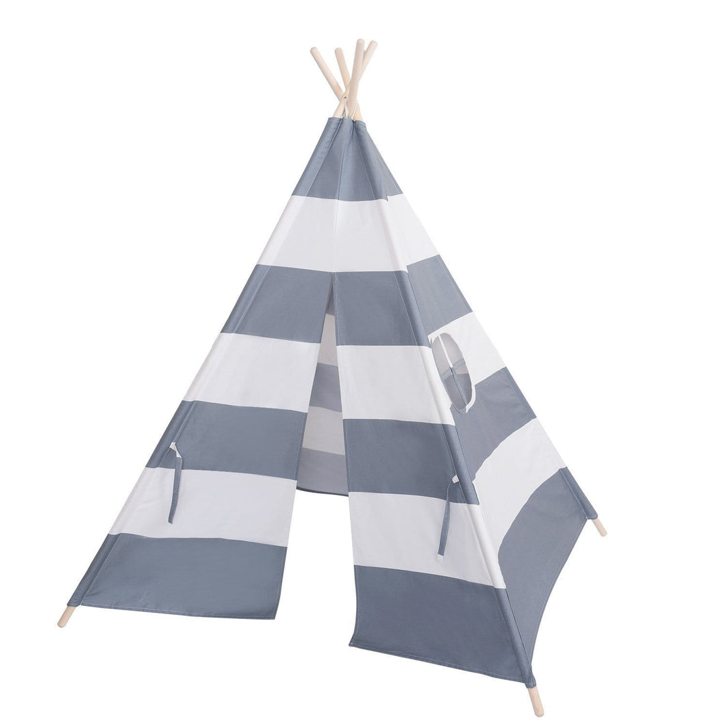 Tepee - Grey and white striped