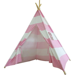 Tepee - Pink and white striped