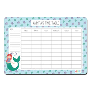 Rewritable Timetable Magnet - Mermaid