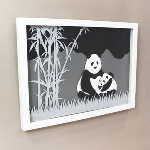 Animal  Silhouette Art -  Panda