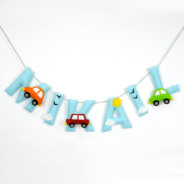 Personalised Car Name Bunting/Garland