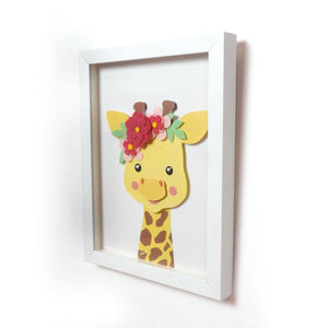 3D Little Giraffe Portrait - Wall Art