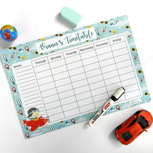 Rewritable Timetable Magnet - Airplane