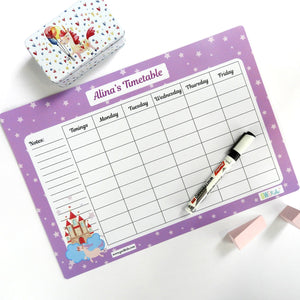 Rewritable Timetable Magnet - Castle