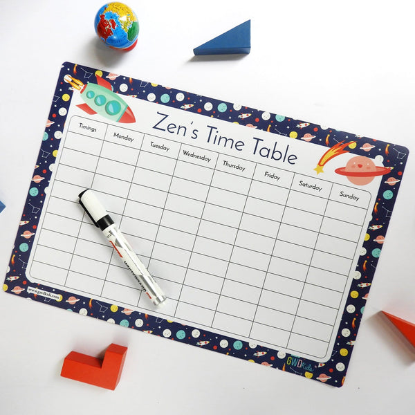 Rewritable Timetable Magnet - Space