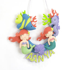 Personalised Mermaid Wall Hanging