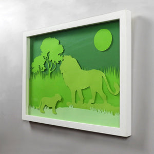 Animal  Silhouette Art -  Lion
