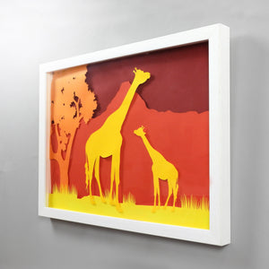 Animal  Silhouette Art -  Giraffe