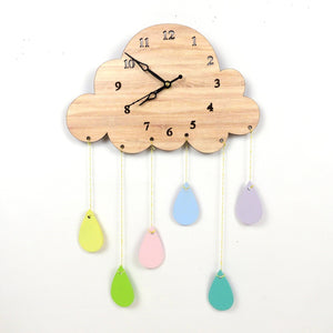 Rainy Day Cloud Clock