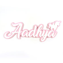 Personalised 3D Acrylic Name Plate - Unicorn