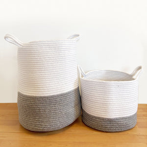 Grey Cotton Rope  Storage Basket